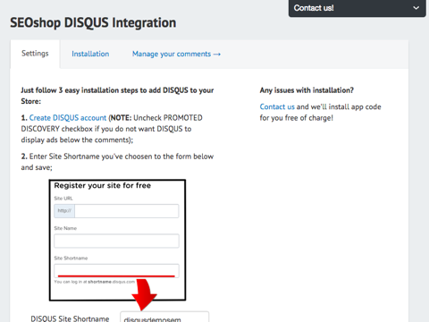 Disqus Integration: comments & reviews