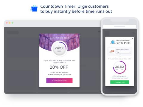 Checkout Boost | Countdown, Exit-Intent, Social Sharing