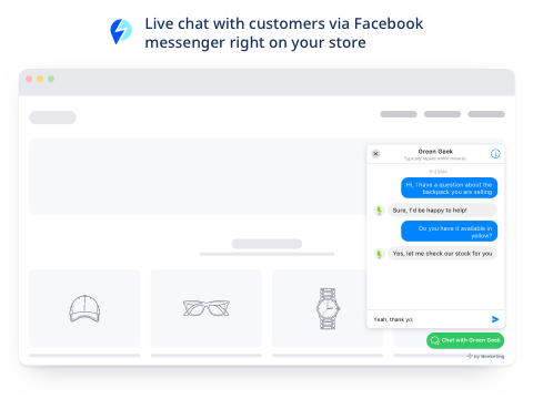 Quick Facebook Chat | Facebook Messenger Live Chat App - SEOshop