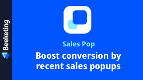 Sales Pop | Recent Sales Notification Popup