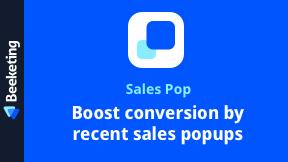 Sales Pop | Recent Sales Notification Popup