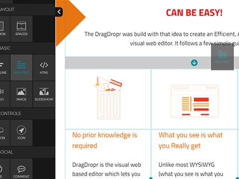 DragDropr - Visual Content Builder